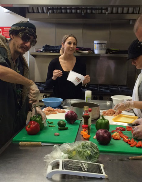 clients learn how to prepare a nutritious meal at the ecumenical soup kitchen - Food Kitchen