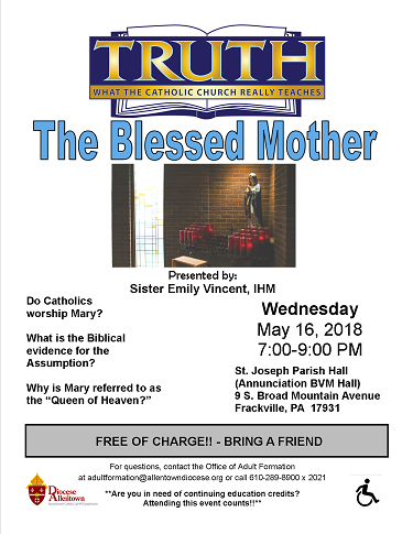 The Blessed Mother Flyer (PDF)