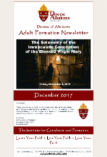 December 2017 Adult Formation Newsletter