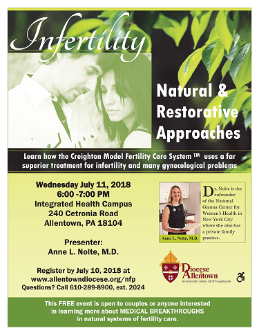 Infertility - Natural and Restorative Approaches Flyer (PDF)
