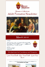 March 2018 Adult Formation Newsletter