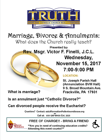 Marriage, Divorce & Annulments Flyer (PDF)