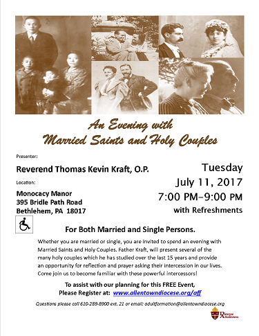 Married Saints and Holy Couples Flyer