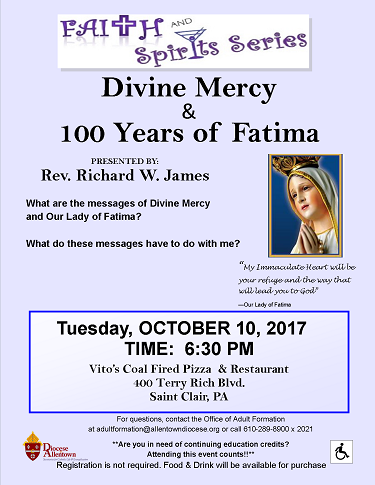 Divine Mercy & 100 Years of Fatima Flyer (PDF)