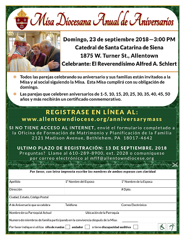 Spanish Anniversary Mass Flyer