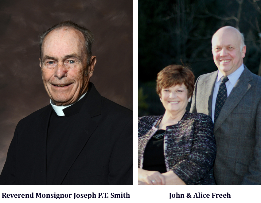 Reverend Monsignor Joseph P.T. Smith and John & Alice Freeh