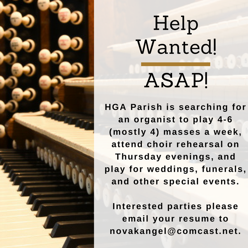 Organist wanted