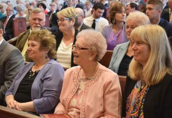 Family and friends gather in the Cathedral of St. Catharine of Siena to witness the ordination. (Photo by John Simitz)