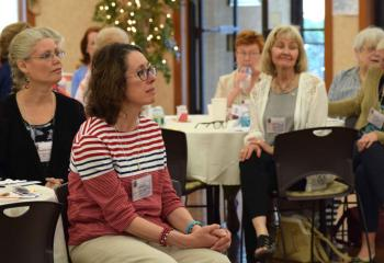 Women from various regions in the Diocese of Allentown gather at St. Thomas More, Allentown for a day of prayer, presentations, reflection and witness talks. (Photo by John Simitz)