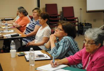 "Parish advocates learn about memory loss during the half-day conference, ""Understanding Dementia."" (Photo by Tara Connolly)"