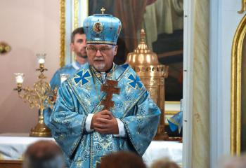 Ukrainian Catholic Archbishop Stefan Soroka of Philadelphia is seen at at the Assumption of the Blessed Virgin Mary Ukrainian Catholic Church in Centralia Aug. 26, 2016.  (CNS photo/Jacqueline Dormer, Republican-Herald)