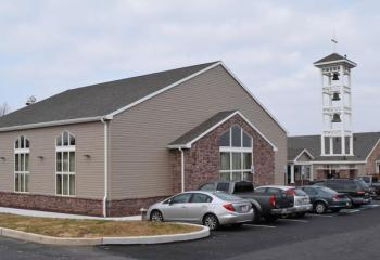 The exterior of the new Family Life Center at St. Benedict.
