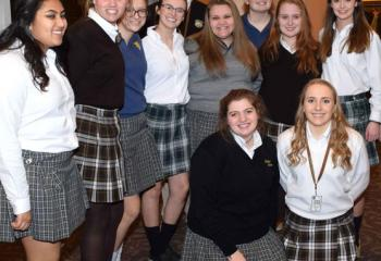 Students from Allentown Central Catholic High School, Bethlehem Catholic High School and Notre Dame High School, Easton who sold raffle tickets during the evening.
