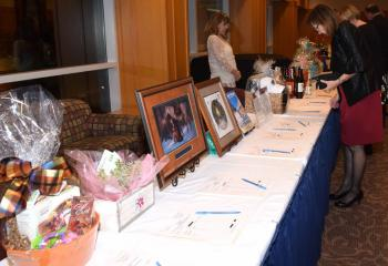 A sampling of the silent auction prizes.