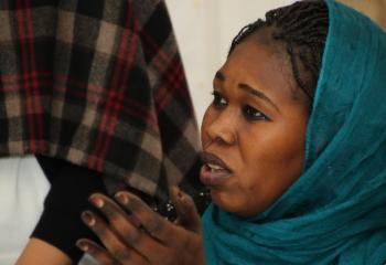 A Sudanese woman participates in a teacher's training workshop in Cairo.