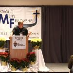 Keynote speaker Mark Houck of the King's Men speaks at Spirit 2014