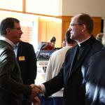 Bishop Barres greets participants at Spirit 2015
