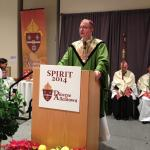 Bishop John O Barres celebrates Mass at Spirit 2014.