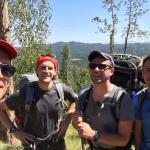 Philip Maas, second from right, seminarian for the Diocese of Allentown, hikes the Black Hills of South Dakota with seminarians from other dioceses. From left are Jonathan Smith, seminarian for Diocese of Arlington, Virginia; Steven DiMassimo, seminarian for the Diocese of Raleigh, North Carolina; and Rusty Bruce, seminarian for the Diocese of Houma-Thibodaux, Louisiana.