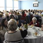 Women enjoy breakfast at the Lenten retreat.