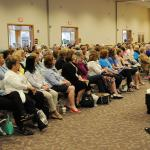 Women listen to a speaker during the daylong conference sponsored by the Diocese of Allentown Secretariat for Catholic Life and Evangelization in partnership with Stewardship: A Mission of Faith.