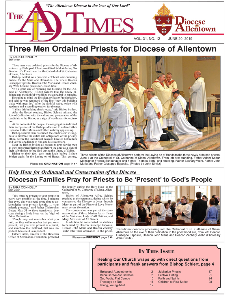 AD Times for June 20, 2019 | Roman Catholic Diocese of Allentown