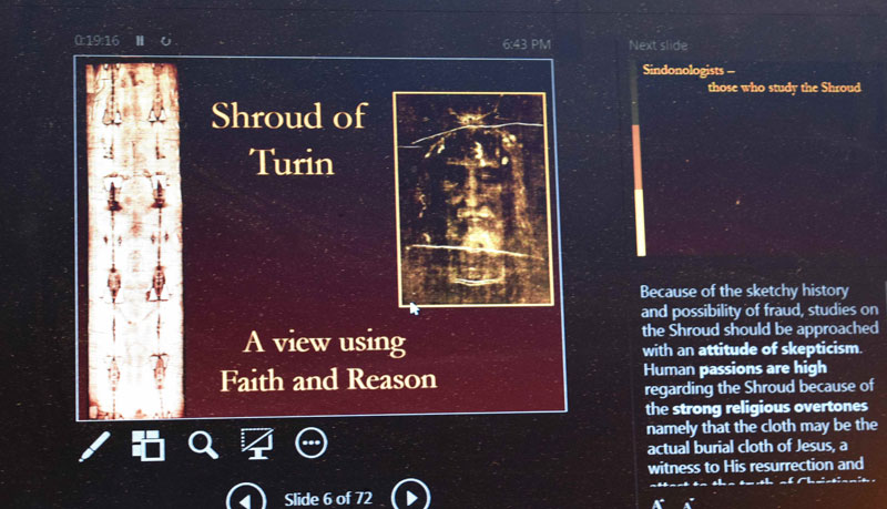 Faith and Spirits' Ponders Evidence Authenticating Shroud of