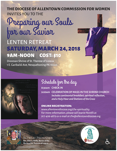 Preparing Our Souls For Our Savior Retreat Flyer (PDF)