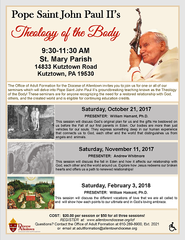 Theology of the Body Seminars Flyer (PDF)