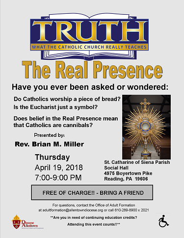 The Real Presence Flyer (PDF)