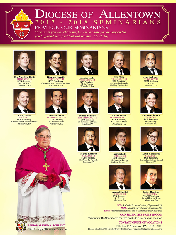 Seminarians for the Diocese of Allentown
