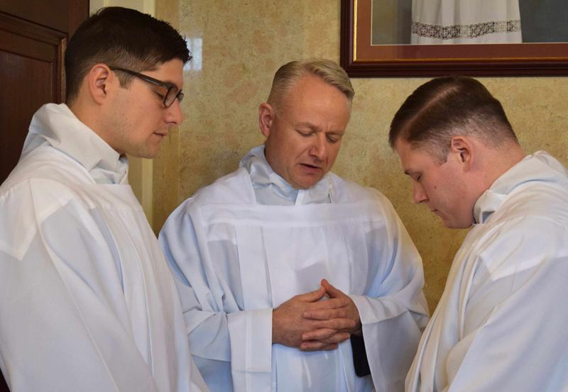 Bishop Schlert Ordains Three Transitional Deacons for