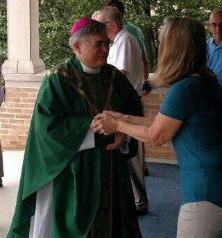 Bishop Schlert delivers Homily at Parishes affected by