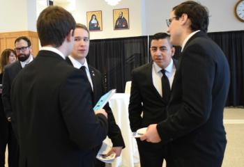 Seminarians for the Diocese of Allentown attend the gala.