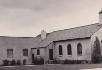 St. Mary church structure in 1948 shows the addition.