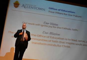 Dr. Philip Fromuth, superintendent for education, discusses the mission of Catholic education.