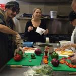 Clients learn how to prepare a nutritious meal at the Ecumenical Soup Kitchen.