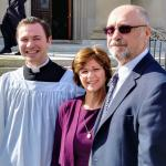 Mr. Philip Mass, left, received Candidacy for Holy Orders on Saturday, November 4, 2017, at Saint Charles Borromeo Seminary, Wynnewood, PA.  He is pictured here with his parents, Mr. James and Mrs. Sandra Maas. Candidacy is the first official rite leading to ordination to the Diaconate and Priesthood in which the Church declares the man to be a candidate for Holy Orders.  The Most Reverend Charles J. Chaput, Archbishop of Philadelphia, admitted Mr. Maas and his classmates to candidacy.