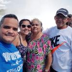 Juan Rodríguez, left, spends time with his family during a trip to Niagara Falls, Canada. From left are his sister Rosa Rodríguez, his mother Juana Rodriguez and his father Eduardo Rodriguez.